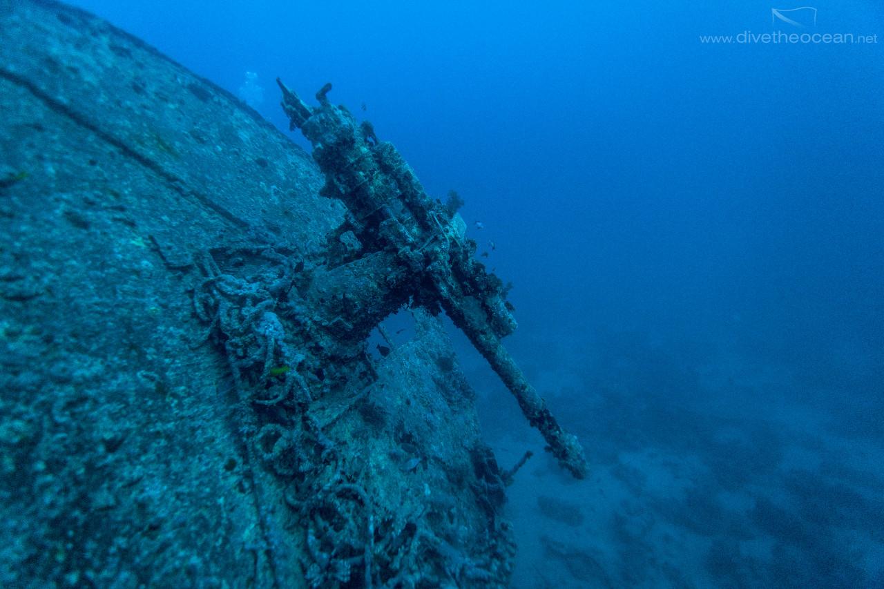 Thistlegorm stern cannon